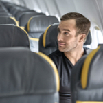 man alone in plane
